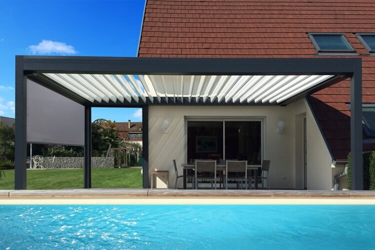 pergolas aluminium lames orientables languedoc. Black Bedroom Furniture Sets. Home Design Ideas